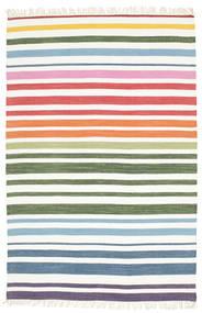Rainbow Stripe - White Rug 140X200 Authentic  Modern Handwoven White/Creme/Beige (Cotton, India)