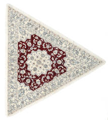 Nain 9La Rug 250X250 Authentic  Oriental Handknotted Beige/Light Grey Large (Wool/Silk, Persia/Iran)