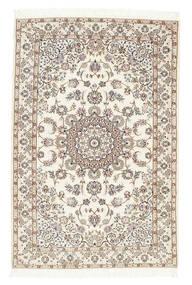 Nain 6La Rug 102X155 Authentic  Oriental Handknotted Beige/Light Grey (Wool/Silk, Persia/Iran)