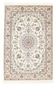Nain 6La Rug 100X152 Authentic  Oriental Handknotted Beige/Light Grey (Wool/Silk, Persia/Iran)