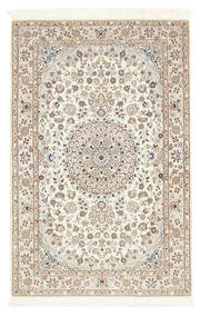 Nain 6La Rug 100X156 Authentic  Oriental Handknotted Light Grey/Beige (Wool/Silk, Persia/Iran)