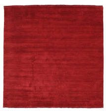 Handloom Fringes - Dark Red Rug 200X200 Modern Square Crimson Red (Wool, India)