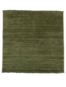Handloom Fringes - Green Rug 200X250 Modern Olive Green/Dark Green (Wool, India)