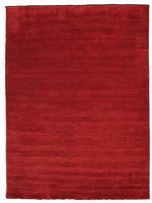 Handloom Fringes - Dark Red Rug 200X300 Modern Crimson Red (Wool, India)