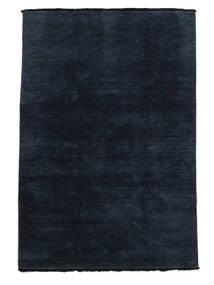 Handloom Fringes - Dark Blue Rug 160X230 Modern Dark Blue (Wool, India)