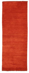 Handloom Fringes - Rust/Red Rug 80X200 Modern Hallway Runner Rust Red (Wool, India)