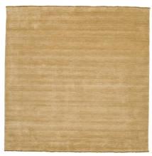 Handloom Fringes - Beige Rug 250X250 Modern Square Dark Beige/Light Brown Large (Wool, India)