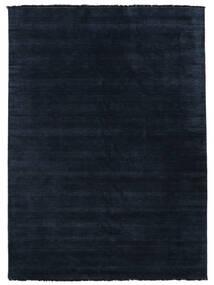 Handloom Fringes - Dark Blue Rug 300X400 Modern Dark Blue Large (Wool, India)