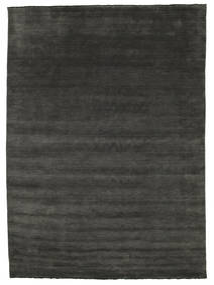 Handloom Fringes - Black/Grey Rug 300X400 Modern Dark Grey Large (Wool, India)