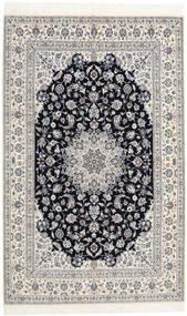 Nain 6La Habibian Rug 160X253 Authentic Oriental Handknotted Light Grey/Beige (Wool/Silk, Persia/Iran)