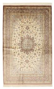 Qum Silk Signed: Qum Vafai Rug 129X200 Authentic  Oriental Handknotted Beige/Dark Brown (Silk, Persia/Iran)