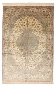 Qum Silk Signed: Qum Mosavi Rug 128X200 Authentic  Oriental Handknotted Dark Beige/Beige (Silk, Persia/Iran)