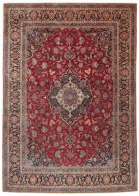 Keshan Rug 275X385 Authentic  Oriental Handknotted Dark Red/Dark Brown Large (Wool, Persia/Iran)