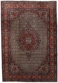 Moud Rug 210X303 Authentic  Oriental Handknotted Dark Red/Dark Brown (Wool/Silk, Persia/Iran)