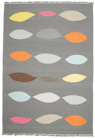 Leaves - Grey Rug 220X320 Authentic  Modern Handwoven Dark Grey/Light Grey (Wool, India)