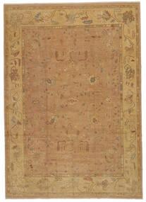 Oushak Rug 277X392 Authentic  Oriental Handknotted Light Brown/Dark Beige Large (Wool, Turkey)