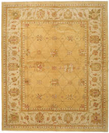 Oushak Rug 328X396 Authentic  Oriental Handknotted Light Brown/Dark Beige Large (Wool, Turkey)