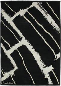 Power Rug 155X220 Authentic Modern Handknotted Black/Light Grey (Wool, India)