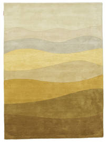 Feeling Handtufted - Brown Rug 140X200 Modern Dark Beige/Olive Green (Wool, India)