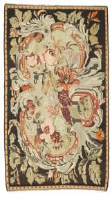 Rose Kelim Rug 180X315 Authentic  Oriental Handwoven Brown/Dark Beige (Wool, Moldova)