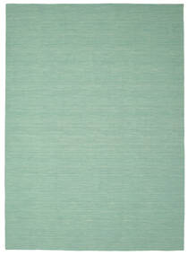 Kilim Loom - Mint Green Rug 250X350 Authentic  Modern Handwoven Pastel Green/Turquoise Blue Large (Wool, India)