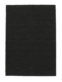 Kilim Loom - Black Rug 250X350 Authentic  Modern Handwoven Black Large (Wool, India)