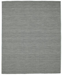 Kilim Loom - Dark Grey Rug 200X250 Authentic  Modern Handwoven Dark Grey/Light Green (Wool, India)
