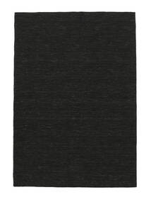 Kilim Loom - Black Rug 160X230 Authentic  Modern Handwoven Black (Wool, India)