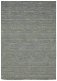 Kilim Loom - Dark Grey Rug 160X230 Authentic  Modern Handwoven Light Grey/Dark Green (Wool, India)
