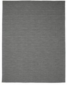 Kilim Loom - Dark Grey Rug 300X400 Authentic  Modern Handwoven Dark Green/Light Grey Large (Wool, India)