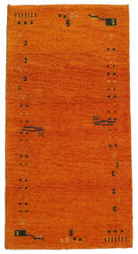 Gabbeh Indo Rug 71X140 Authentic  Modern Handknotted Orange/Light Brown (Wool, India)
