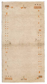 Gabbeh Indo Rug 74X141 Authentic  Modern Handknotted Beige (Wool, India)