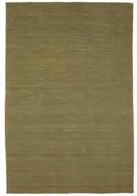 Kilim Loom - Olive Rug 200X300 Authentic  Modern Handwoven Olive Green (Wool, India)