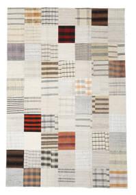 Kilim Patchwork Rug 201X300 Authentic  Modern Handwoven White/Creme/Beige (Wool, Turkey)