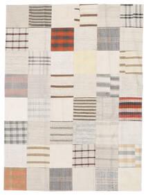 Kilim Patchwork Rug 170X230 Authentic  Modern Handwoven White/Creme/Beige (Wool, Turkey)