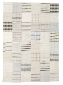 Kilim Patchwork Rug 171X240 Authentic  Modern Handwoven Beige/White/Creme (Wool, Turkey)
