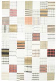 Kilim Patchwork Rug 202X301 Authentic  Modern Handwoven Beige/White/Creme/Light Grey (Wool, Turkey)