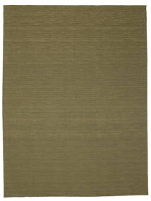 Kilim Loom - Olive Rug 300X400 Authentic  Modern Handwoven Olive Green Large (Wool, India)