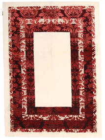 Himalaya Rug 150X210 Authentic  Modern Handknotted Beige/Dark Red ( India)