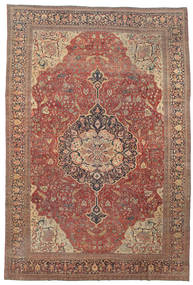 Farahan Rug 368X550 Authentic Oriental Handknotted Dark Red/Brown Large (Wool, Persia/Iran)