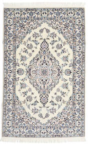 Nain 6La Rug 108X170 Authentic  Oriental Handknotted Beige/Light Grey (Wool/Silk, Persia/Iran)