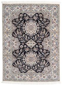 Nain 6La Rug 123X170 Authentic  Oriental Handknotted Light Grey/Beige (Wool/Silk, Persia/Iran)
