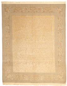 Isfahan Silk Warp Signed: Dardashti Rug 247X312 Authentic  Oriental Handknotted Dark Beige/Beige (Wool/Silk, Persia/Iran)