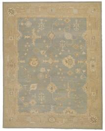 Oushak Rug 333X426 Authentic  Oriental Handknotted Dark Beige Large (Wool, Turkey)