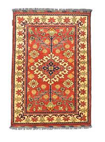 Afghan Kargahi Rug 84X122 Authentic Oriental Handknotted Crimson Red/Dark Beige (Wool, Afghanistan)