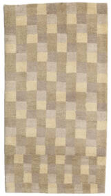 Gabbeh Indo Rug 74X140 Authentic  Modern Handknotted Light Grey/Light Brown (Wool, India)