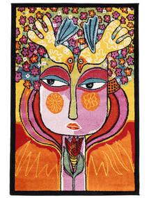 She Has Flowers In Her Hair Rug 120X180 Modern Dark Brown/Orange ( Turkey)