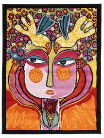 She Has Flowers In Her Hair Rug 100X130 Modern Black/Orange ( Turkey)