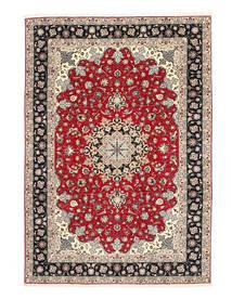 Tabriz 50 Raj Silk Warp Rug 200X310 Authentic  Oriental Handknotted Light Grey/Dark Grey (Wool/Silk, Persia/Iran)