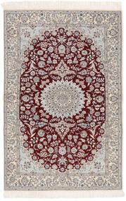 Nain 6La Rug 103X163 Authentic  Oriental Handknotted Beige/Light Grey (Wool/Silk, Persia/Iran)